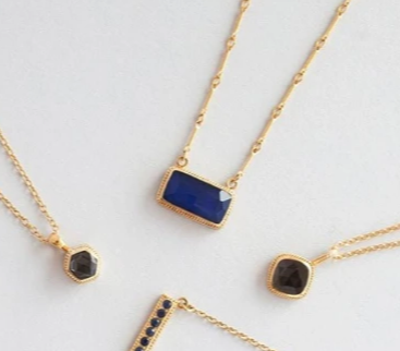 Anna Beck Women - Jewelry - Necklaces Anna Beck Sapphire Bar Pendant Necklace | Reversible Pendant |Sterling Silver Anna Beck