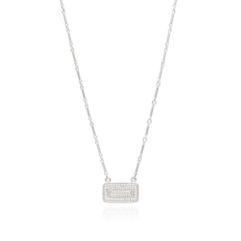 Anna Beck Sapphire Bar Pendant Necklace | Sterling Silver | Reversible Pendant