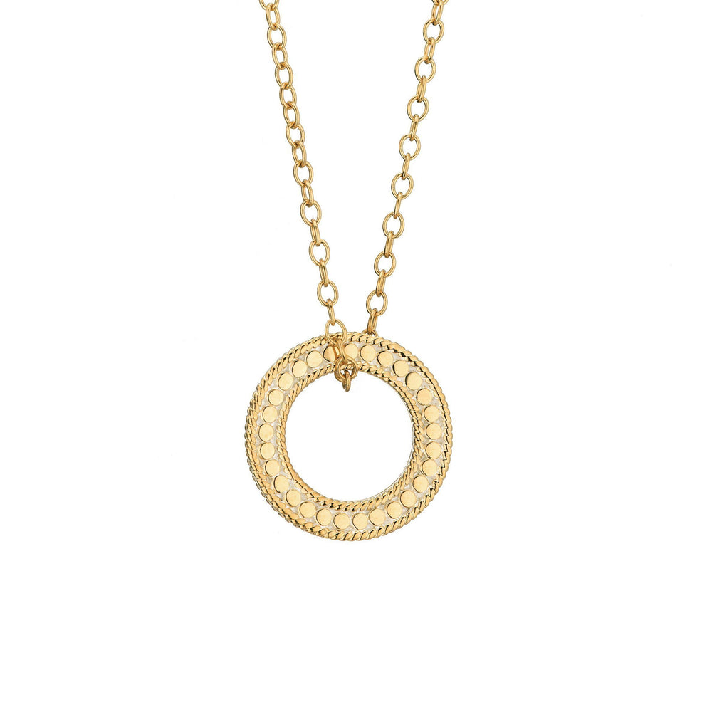 Anna Beck Circle of Life Open 'O' Necklace - Gold