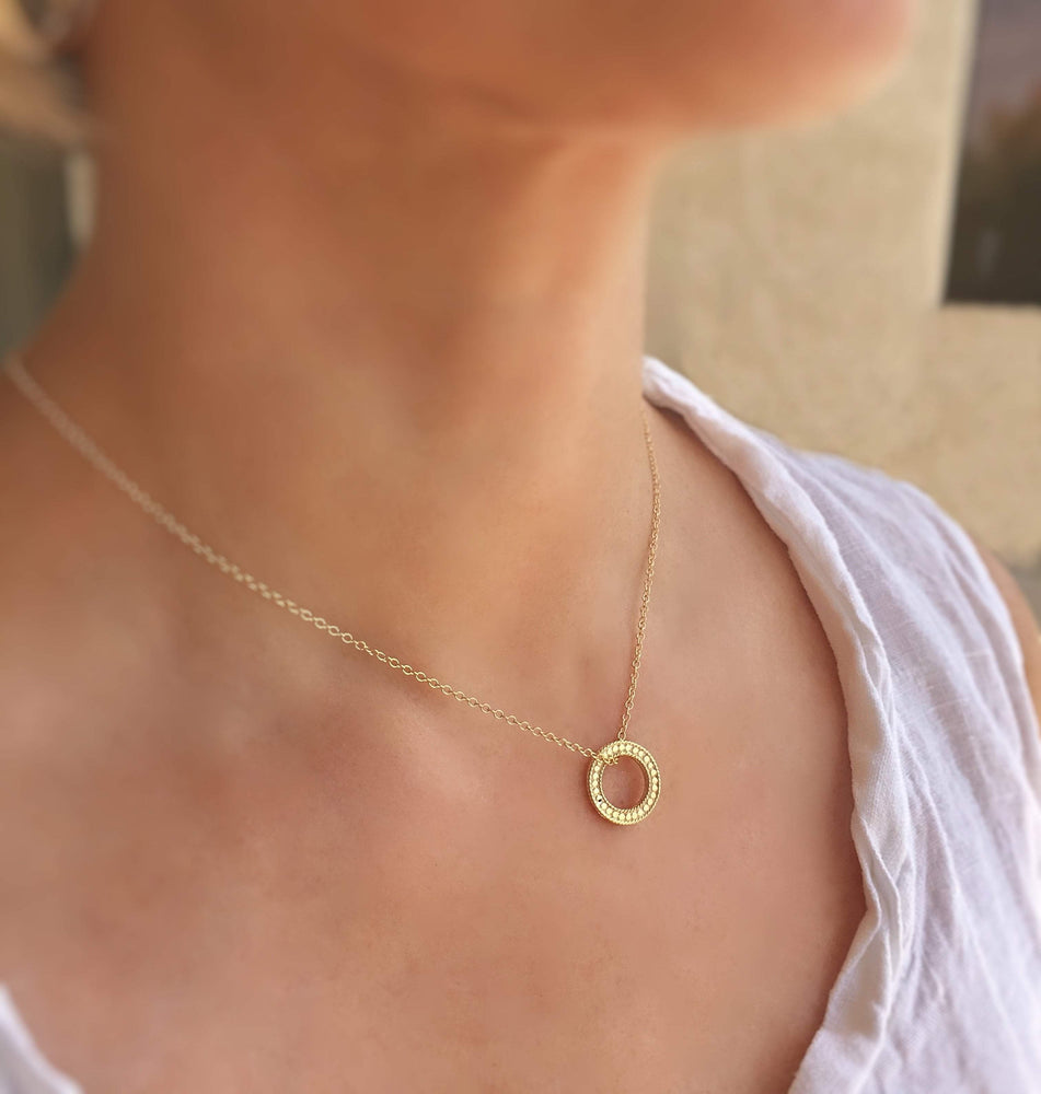 Anna Beck Women - Jewelry - Necklaces One Size / Gold Anna Beck Circle of Life Necklace - Gold Anna Beck
