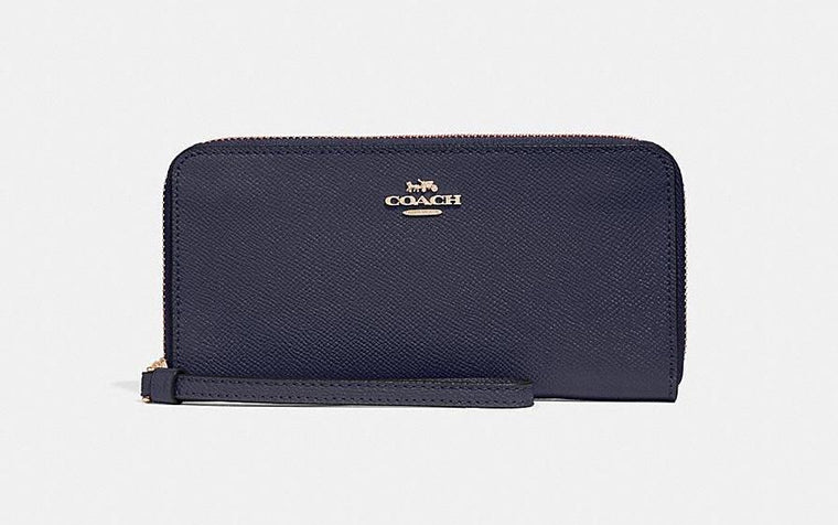 Coach Crossgrain Leather Wallet - Midnight