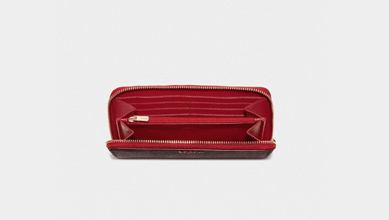 Coach Women - Accessories - Wallets Crossgrain Leather Wallet - True Red Coach