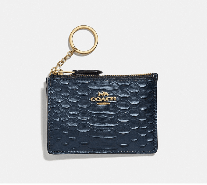 Coach Mini Card Case - Blue