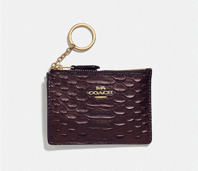 Coach Mini Card Case - Oxblood