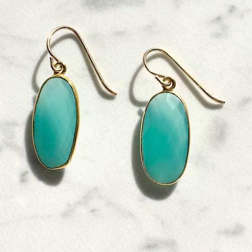 Greta Jones Jewelry Women - Jewelry - Earrings Aqua Chalcedony Earrings Greta Jones Jewelry