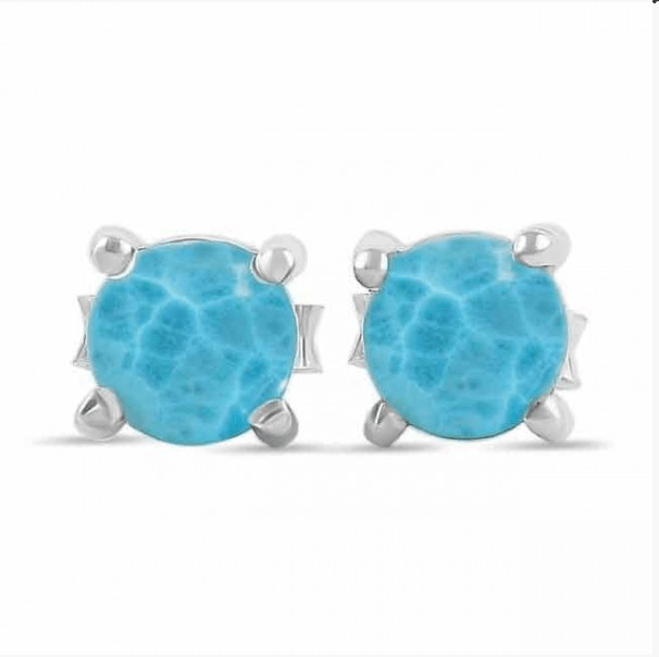 Greta Jones Jewelry Women - Jewelry - Earrings Genuine Larimar Stud Earrings - Sterling Silver - Dominican Republic Greta Jones Jewelry
