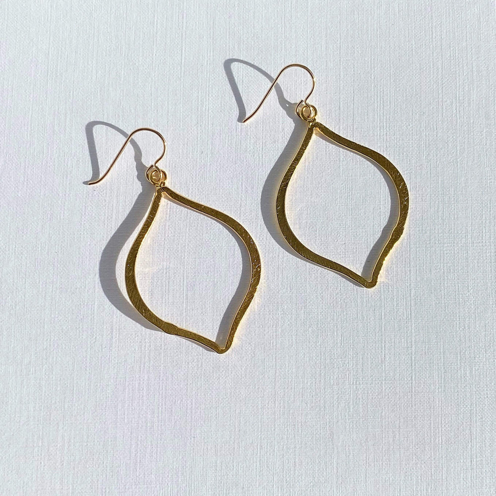 Greta Jones Jewelry Women - Jewelry - Earrings Gold Arabesque Earrings - Large Earrings Greta Jones Jewelry