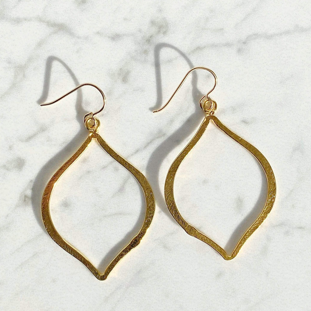 Gold Artisan Earrings | Arabesque Statement Earrings | Gold Vermeil Earrings