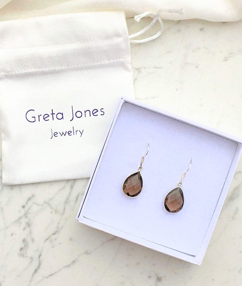 Greta Jones Jewelry Women - Jewelry - Earrings One Size / Brown Smoky Quartz - Audrey Earrings Greta Jones Jewelry