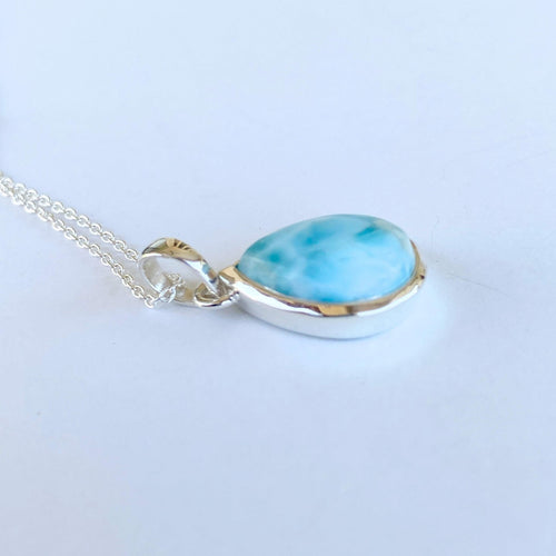 Greta Jones Jewelry Women - Jewelry - Necklaces Genuine Larimar Necklace - Small Pendant - Dominican Republic Larimar Greta Jones Jewelry