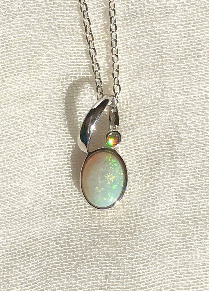Charlotte Necklace - Australian Opal - Verbena Sky , Women - Jewelry - Necklaces - Verbena Sky, [Verbena Sky Boutique]