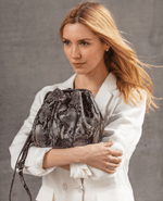 Joanna Maxham Women - Bags - Crossbody Brown JOANNA MAXHAM Highline Drawstring Bucket Bag - Snake Print Joanna Maxham