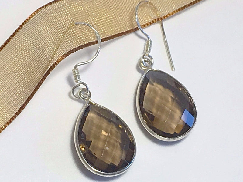 Verbena Sky Women - Jewelry - Earrings Audrey Earrings - Smokey Quartz Verbena Sky