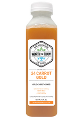 The Fountain of Juice 24 Carrot Gold 100% Raw Juice | All Natural, Cold-Pressed, No-HPP, Vegan, Gluten-Free