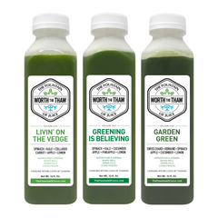 The Fountain of Juice Greens Pack 100% Raw Juice | All Natural, Cold-Pressed, No-HPP, Vegan, Gluten-Free
