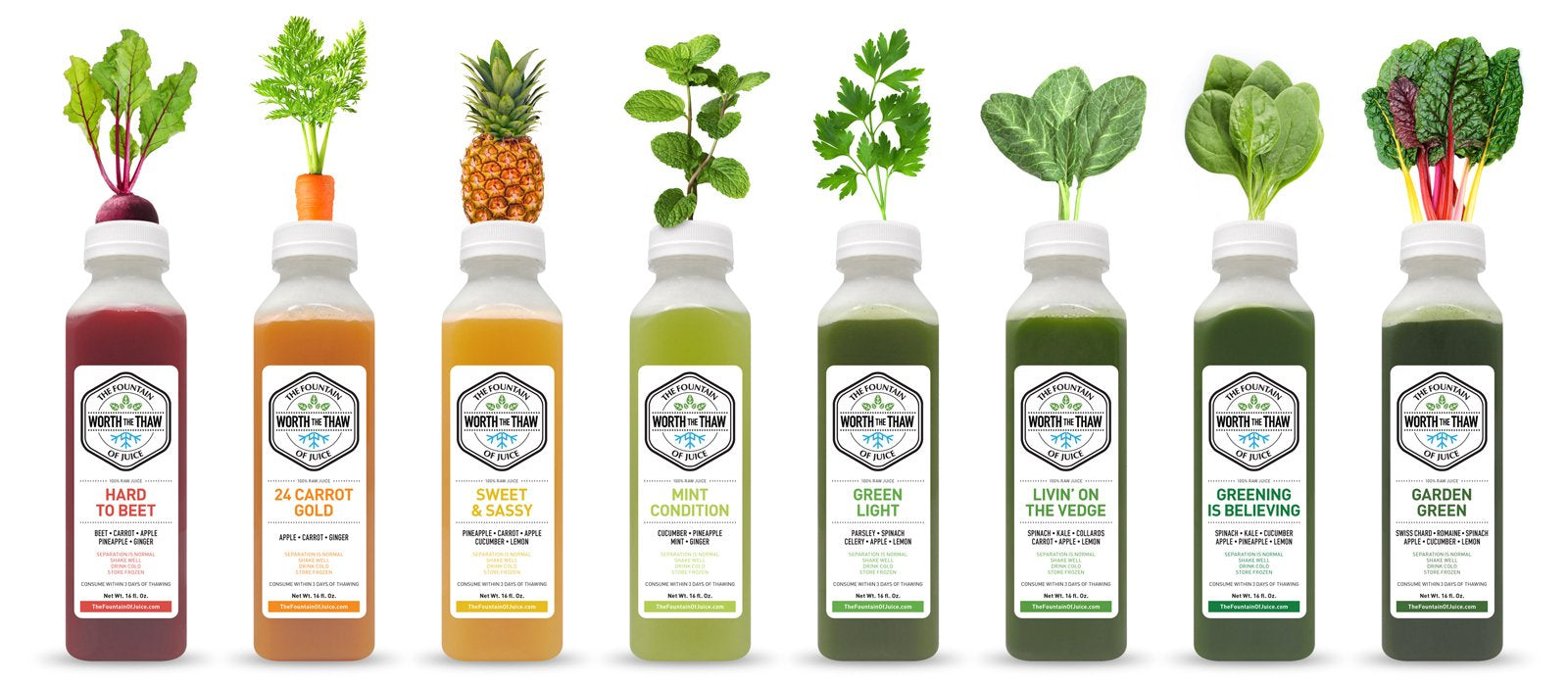 100% Raw Cold Pressed Juices