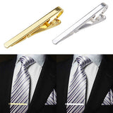 Fashion Metal Silver or Gold Simple Necktie Tie Bar Clip For Men, Tie, MHY STORE - MHY STORE