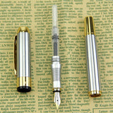 Noble Golden & Silver Stainless Fountain Pen, Pen, MHY STORE - MHY STORE