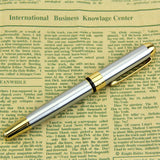 Noble Golden & Silver Stainless Fountain Pen