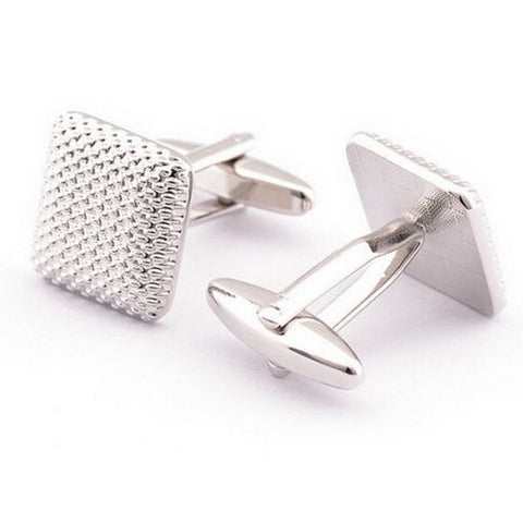 Men Silver Metal Cuff Links, cuff links, MHY STORE - MHY STORE