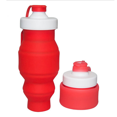 This water bottle is a collapsible water bottle