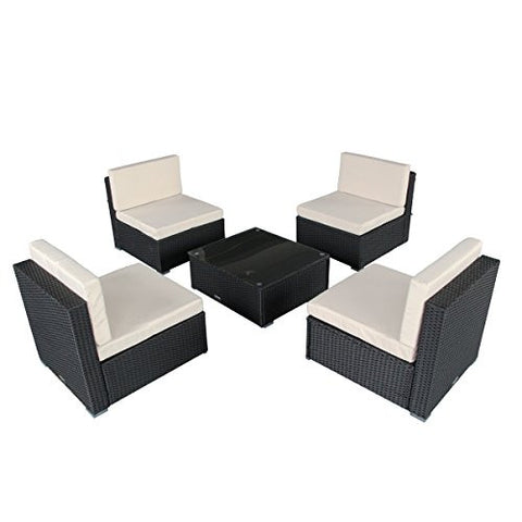 5 Piece Outdoor Furniture Patio Set Is A Rattan Garden Furniture
