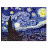 Classic Canvas Wall Art The Starry Night From Van Gogh (Unframed)