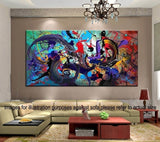 Modern Canvas Oil Painting  Abstract Wall Art (Unframed)