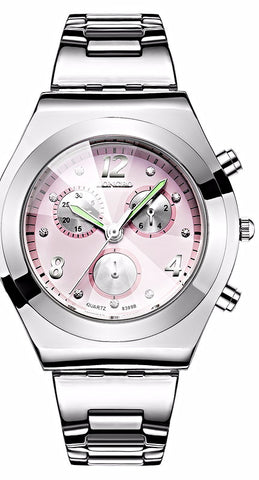 Women Stainless Steel Quartz Watch For Business or Casual Wear
