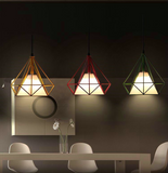DIAMOND SHAPE LED PENDANT LIGHT SCANDINAVIAN MODERN LAMP