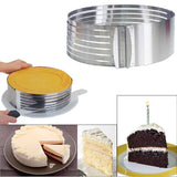 Adjustable Layered Cake Slicer Stainless Steel Round Ring