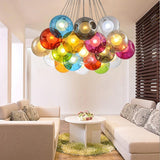 Modern Round LED Colorful Glass Pendant Lights