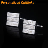 Designer Shirt Cufflinks for Men Customized Engraved Cufflinks
