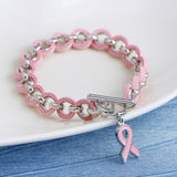 Handmade Breast Cancer Awareness Fashion Bracelet, Bracelet, MHY STORE - MHY STORE