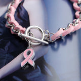 Handmade Breast Cancer Awareness Fashion Bracelet