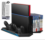 PS4 Game Console Vertical Stand & Cooling Fan Holder Charging Station