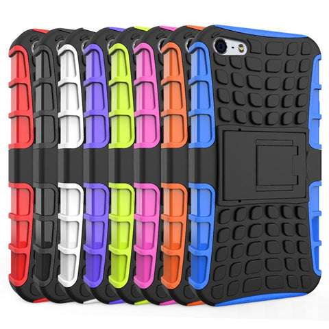 iPhone 5s Case Heavy Duty Armor Shockproof Hybrid Hard Soft Silicone Rugged Rubber Phone Case Cover For iphone 5 5s <, Phone Bags & Cases, MHY STORE - MHY STORE