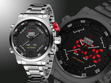 Designer Mens Watch Multi-function Led Dual Time Zone