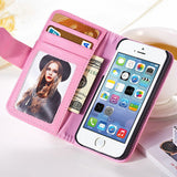Wallet Case For Apple iPhone 5 5S 5G/ iphone SE Magnetic Flip PU Leather Case with Photo Frame Card Holder Smart Stand, phone, MHY STORE - MHY STORE
