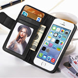Wallet Case For Apple iPhone 5 5S 5G/ iphone SE Magnetic Flip PU Leather Case with Photo Frame Card Holder Smart Stand