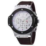 Chronograph Watch Is Great Sports Watch For Men With Silicone Wristband