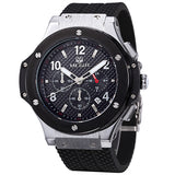 Chronograph Watch with Silicone wristband is branded watch for men