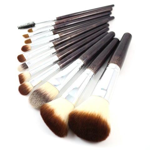 Professional Makeup Brush Set 12pcs High Quality Makeup Tools Kit Violet, cosmetic, MHY STORE - MHY STORE