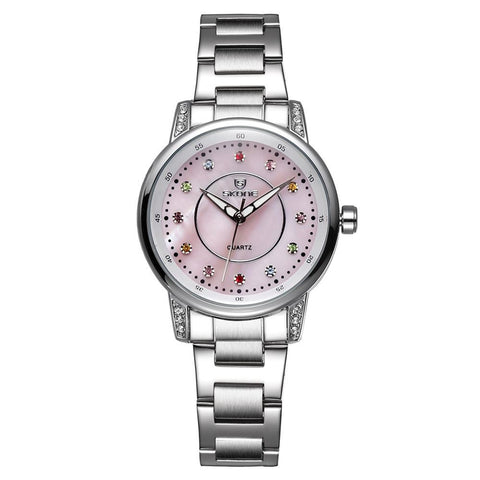 Designer Women Brand Colorful Rhinestone Dial Quartz Watch
