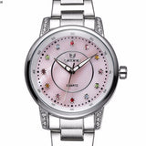 SKONE Brand Colorful Rhinestone Dial Silver Women Quartz Watches, watches, MHY STORE - MHY STORE