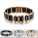 Fashion Jewelry for Men Stainless Steel Ceramic Bracelet, Bracelets, MHY STORE - MHY STORE