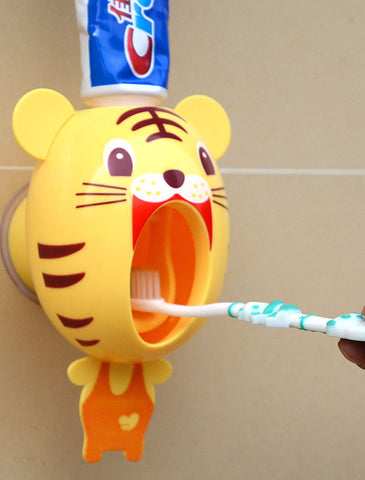 Animal Cartoon Automatic Toothpaste Dispenser Wall Mount
