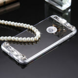 Mirror Phone Case Ultra Thin Bling Crystal Diamond i5/i6/Plus