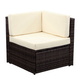 Outdoor Furniture 7 Pcs Patio Set Is Cushioned Rattan Garden Furniture