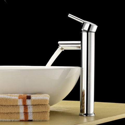 "Modern 12"" Faucet Single Handle Bathroom Vessel Sink Chrome Faucet"